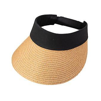 Szerokie rondo Składany kapelusz przeciwsłoneczny plaży Uv Protection Słoma