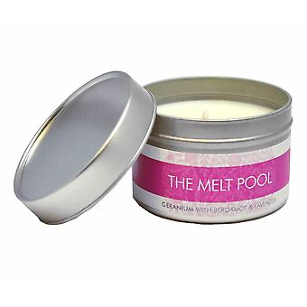 Small Tin Geranium, Bergamot & Lavender Candle by The Melt Pool