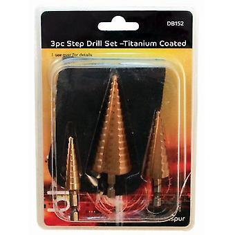 3 wiertła kawałek zestaw czarne złoto tytanowymi DIY, mocowania, montaż okuć