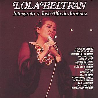 Lola Beltran - tolkningar en Jose Alfredo Jimenez [CD] USA import