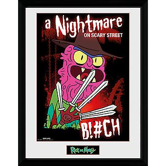 Rick and Morty Scary Terry Framed Collector Print