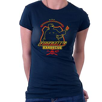 Fireballs BBQ Running Man Women's T-Shirt