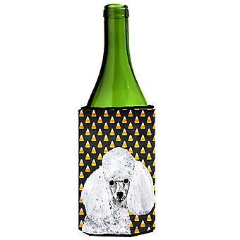 Valkoinen Toy villakoira karkkia maissi Halloween viinipullo juoma eriste Hugger