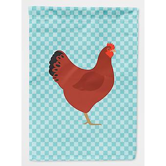 Ny Hampshire Red kylling blå sjekk flagg hage størrelse
