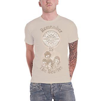 قميص تي البيتلز تذكر الفلفل الرقيب القلوب وحيدا رجالي الرسمية الجديدة الرمل