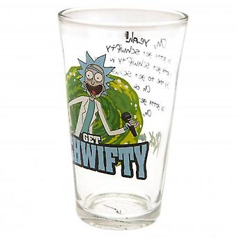 Rick And Morty Large Glass Schwifty