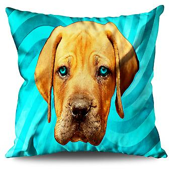 Labrador Cute Loyal Dog Linen Cushion 30cm x 30cm | Wellcoda