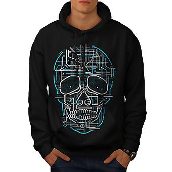 Head Face Panel Skull Men BlackHoodie | Wellcoda