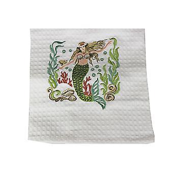 Coastal Ocean Mermaid Cotton Kitchen Dish Towel