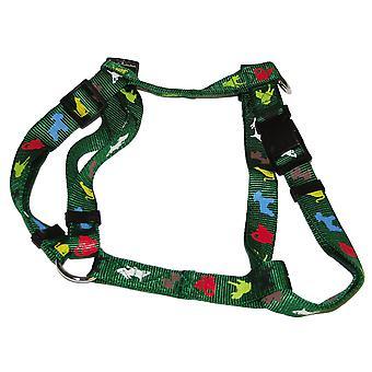 Vital Pet Products Animal Print Nylon Dog Harness