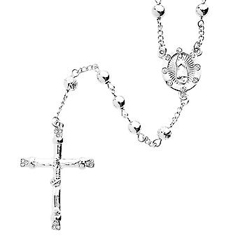 Iced Out Bling Fashion Kette - Rosary silber