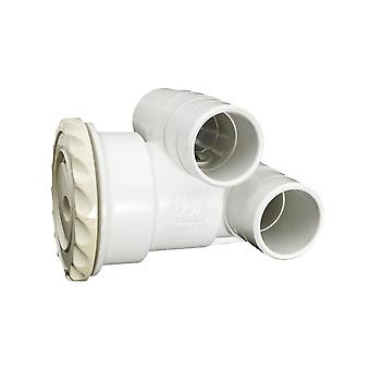 """Canale navigabile 210-1770 1 """"x 1"""" Poly Jet Int Assembly con pulsatore Delux"""
