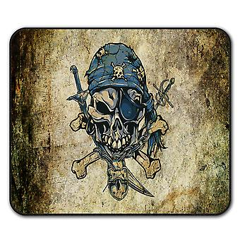 Pirate Skeleton  Non-Slip Mouse Mat Pad 24cm x 20cm | Wellcoda