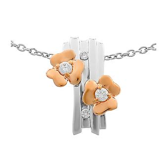 Orphelia Silver 925 kedja med hänge blommor och Roseplated zirkonium ZH-6039
