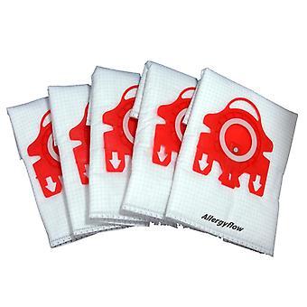 Pack de 5 Miele S310I Microfibre vácuo sacos de pó de
