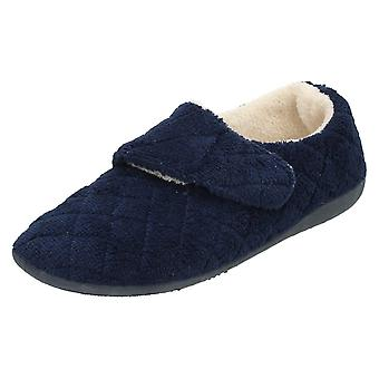 Womens Spot On Flat Slippers PTXL010