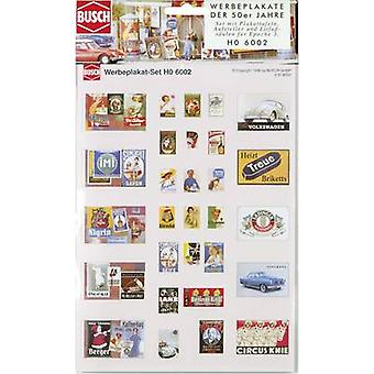 Busch 6002 HO advertising posters set Assembly kit