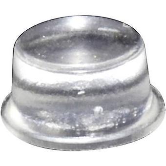 TOOLCRAFT PD2128C fot självhäftande, cirkulär Transparent (Ø x H) 12,7 x 6,2 mm 1 dator