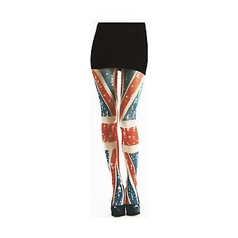 Union Jack Wear Ladies Union Jack Tattoo Design Semi Opaque Tights