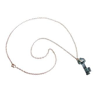 Key pendant necklace chain key 925 Silver with Crystal element