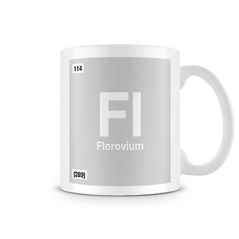 Wetenschappelijke bedrukte Mok met Element symbool 114 Fl - Flerovium