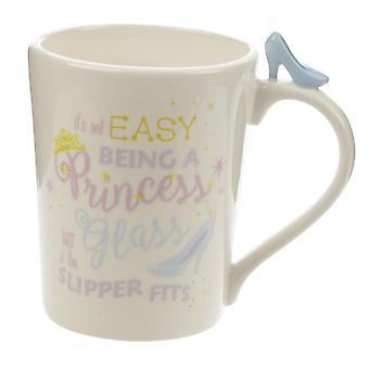 Princess cup princess met schoenwit, bedrukt, 100% keramiek, socket÷gen ca. 470 ml..