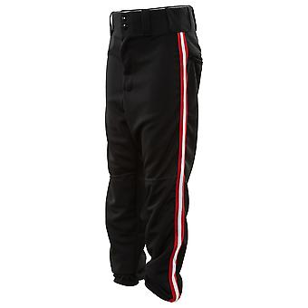 Alleson Elastic Waistband & Bottom Baseball Pants With Red & White Strap Mens Style : Rn80185