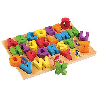 Tidlo Wooden Educational ABC Board Learn Play Letters Literacy Alphabet