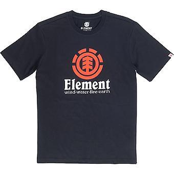 T-shirt vertical à manches courtes d'élément dans le noir de silex