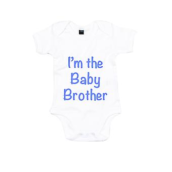 I ' m a Baby Brother fehér, kék bodysuit baba Grow