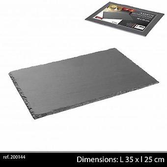 Ardoise porslin servering tallrik 35x25cm Starter skiffer platta
