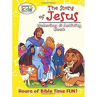 Historien om Jesus färg och aktivitetsbok