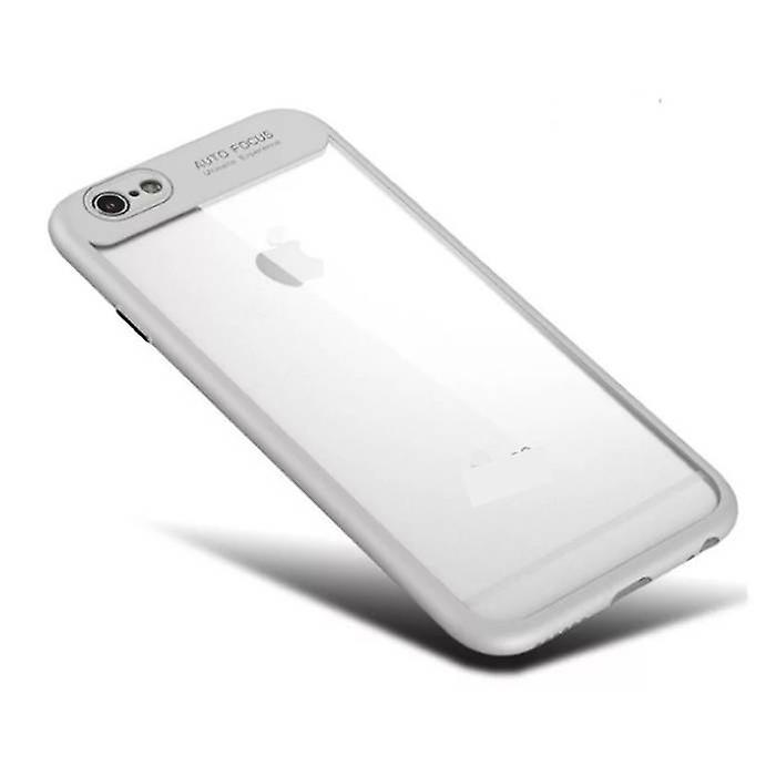 Stuff Certified® iPhone 6S Plus - Auto Focus Armor Case Cover Cas TPU Silicone Case White