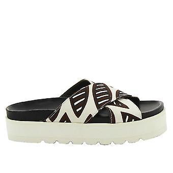 Erika Cavallini C5e029 Women's Brown Fabric Sandals
