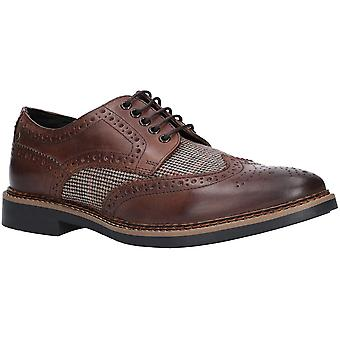 Basis Londen Mens Rothko wasachtige Tweed Sarto Oxford schoenen