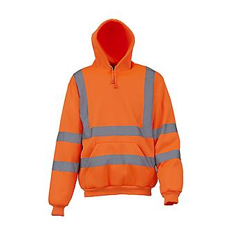 Yoko Mens High Visibility Pull-Over Hoodie (Pack of 2)