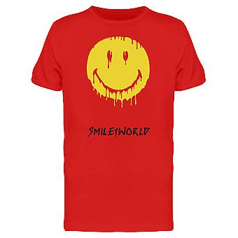 SmileyWorld Melted Yellow Face Men's T-shirt