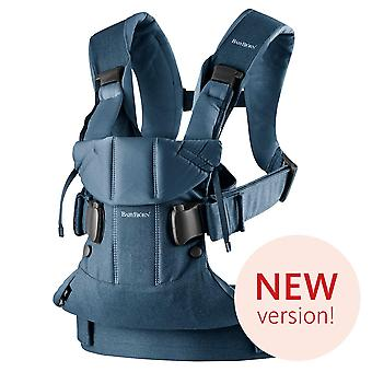 BABYBJORN Baby Carrier One, Cotton Mix, Classic Denim/Midnight Blue, 2018 Edition