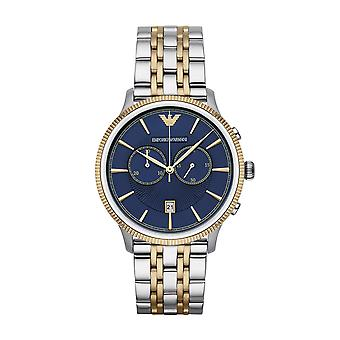 ساعة يد امبوريو ارماني Ar1847 الفاخرة بلونين