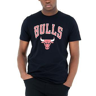 New Era Basic Shirt-NBA Chicago Bulls black