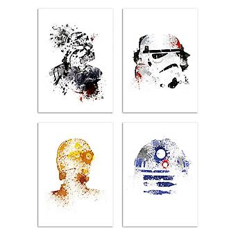 4 Art-Poster 20 x 30 cm - Star Wars - Arian Noveir 20 x 30 cm