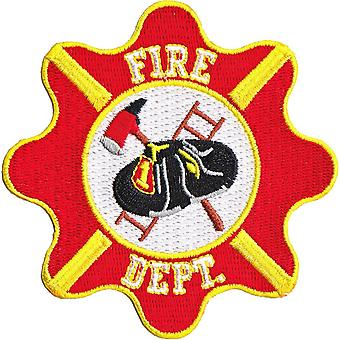Patch - Automoblies - Fire Dept. Crest Iron On Gifts New Licensed p-4172