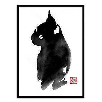 Art-Poster - Svart katt - Pechane Sumie