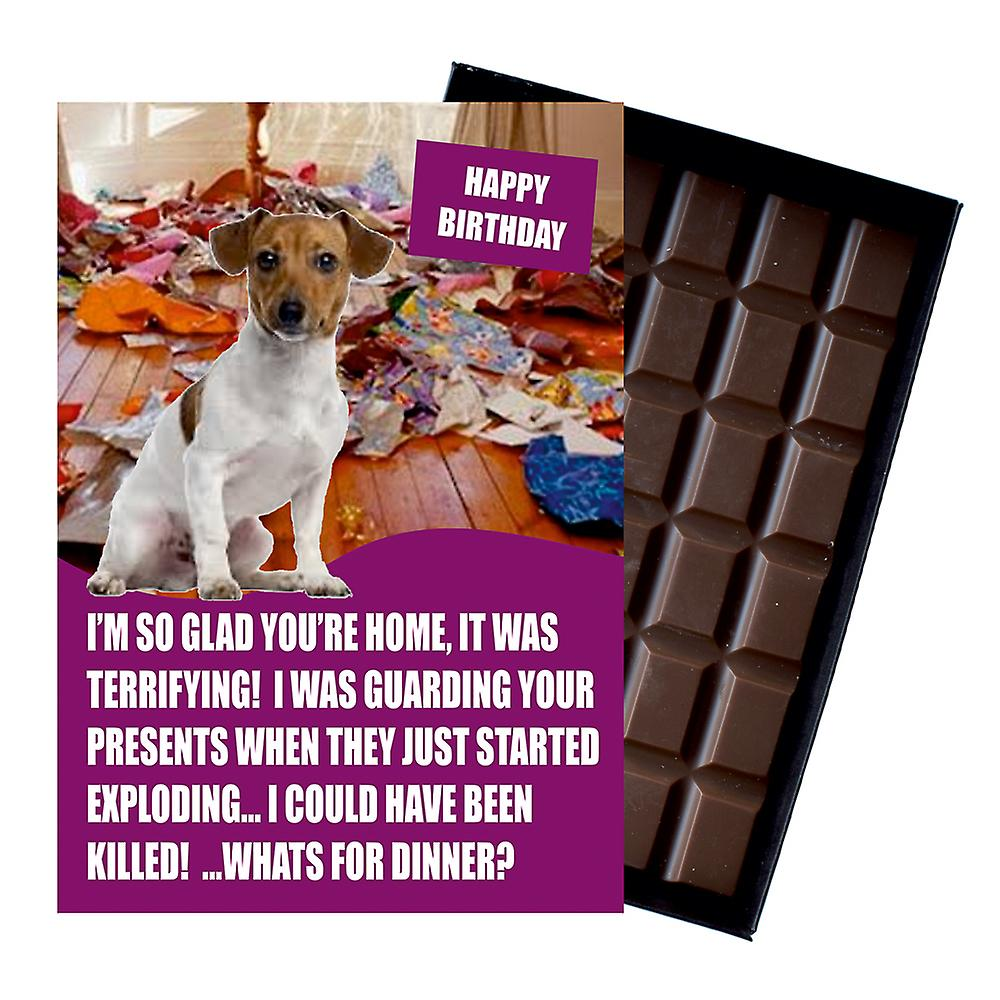 Jack Russell Funny Birthday Gifts For Dog Lover Boxed Chocolate Greeting Card Present