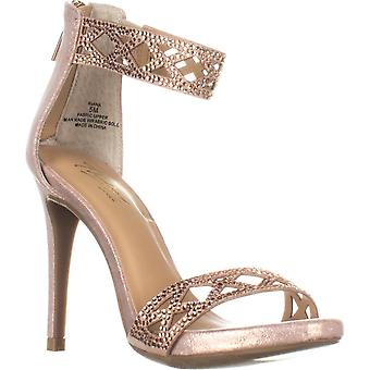 Thalia Sodi Womens Riana tecido aberto Toe ocasião especial tornozelo cinta sandálias