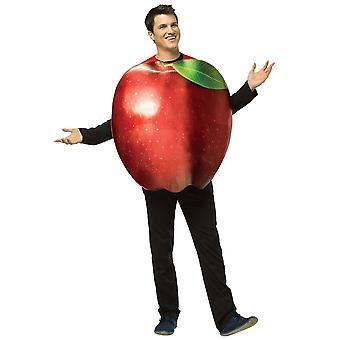 Ia real Red Apple fructe alimentară Partidul Comical femei Mens costum OS