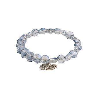 Alex and Ani Cloud Luminous Light Beaded Wrap Bracelet - Rafaelian Silver