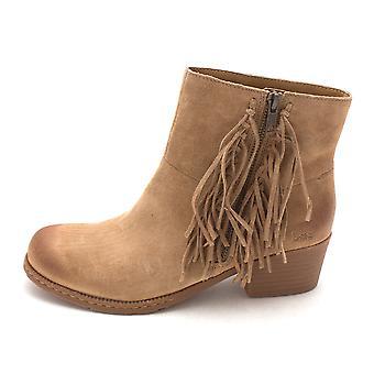 B.O.C Womens Elise Leather Round Toe Ankle Fashion Boots