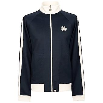 PRETTY GREEN Navy/white Retro Track Top