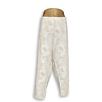 Kelly von Clinton Kelly Frauen's Plus Hose gedruckt Ponte Beige A306671